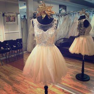 Dresses & Skirts - Short tutu dress with illusion back and beading